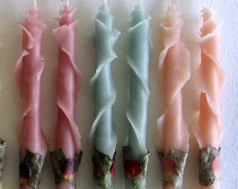 Unique Taper Candles, Hostess Gifts, Pastel Wedding Candles, Bridal Shower Hostess Gift, Bridesmaid Thank You Gift, Baby Shower Hostess Gift