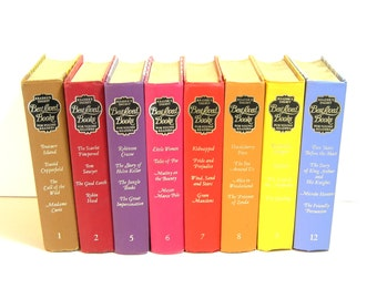 Vintage Rainbow Colored Readers Digest Book Collection For Young Readers