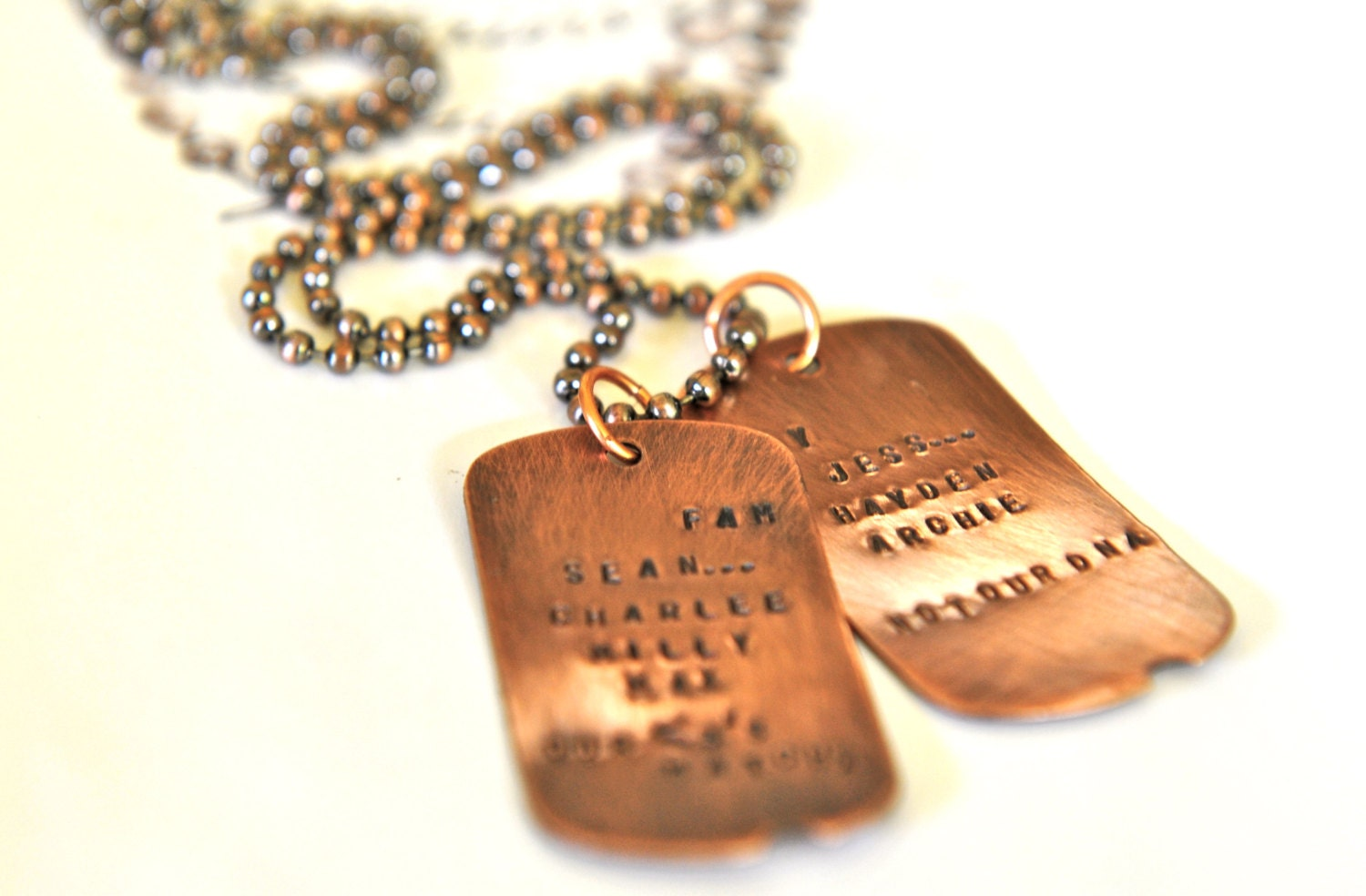 dog tags necklace blended family personalized necklace mens. Black Bedroom Furniture Sets. Home Design Ideas