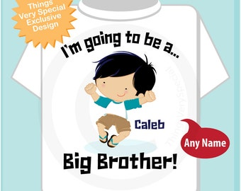 Big Brother Pregnancy Announcement I'm Going to be a Big Brother Tee Shirt or Onesie (04142014e)
