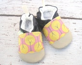 Organic Vegan Aspen in pink / non-slip soft sole baby shoes / made to order / babies toddlers