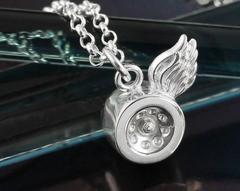 Silver Mini Skate Wheel Necklace
