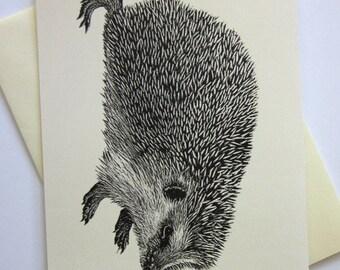 Hedgehog Woodland Stationery Note Cards Set of 10 with Matching Envelopes