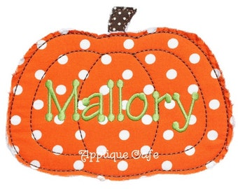 672 Raggy Pumpkin Machine Embroidery Applique Design