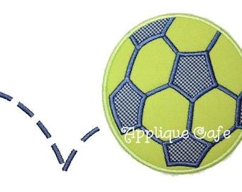 115 Soccer Ball Machine Embroidery Applique Design