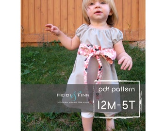 Perfect Little Party Dress pattern and tutorial 12M-5T EASY SEW two ways to wear it
