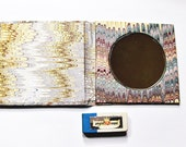 Marbled paper handbag mirror. Hand crafted Florentine style -  SIZE: 3.31