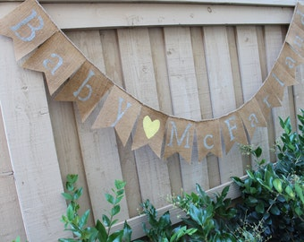 Personalized baby banner