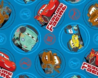 Disney Cars 100% Cotton Fabric - By the Yard