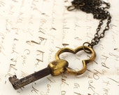 Cool Old Key on Brass Chain - Vintage with an Edge