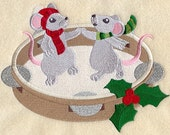 JINGLE BELL BAND - Fred & Ginger - Machine Embroidery Quilt Blocks (AzEB)