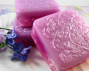 Soap - French Lilac Soap Made with Goats Milk - Glycerin Soap - Handmade Soap - Spring Scented - SoapGarden