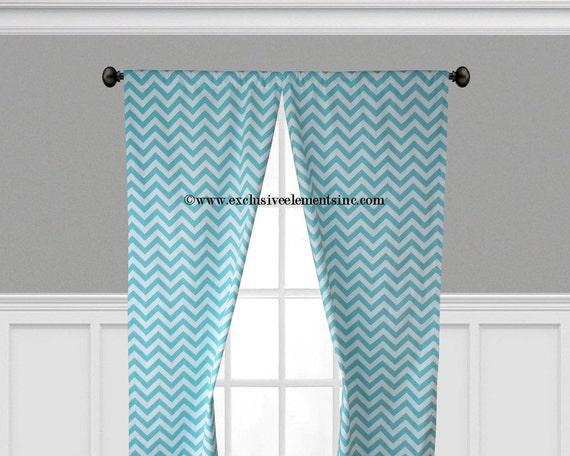 aqua blue curtain panels aqua blue chevron curtains drapery window