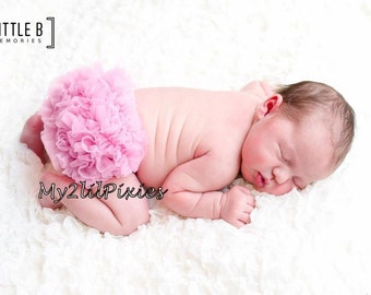 Chiffon Ruffle Bum Baby Bloomer  baby girl diaper cover-Photo Prop- Choose One- 20 colors to choose from-