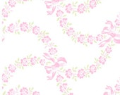 Ballet Rose 925P Cotton Fabric by Rachel Ashwell for Treasures by Shabby Chic Roses on White