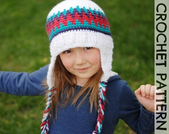 CROCHET HAT PATTERN Kid's Old School Beanie