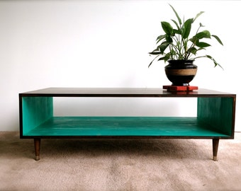 FREE SHIPPING!!  Handmade Coffee Table Mid Century Modern Coffee Table MCM Furniture