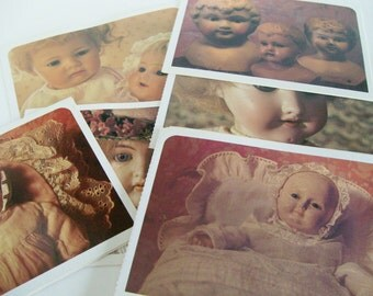 Antique Doll Postcards German Post Card Unused Collectors 1978