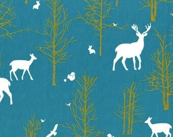 Michael Miller - Brambleberry Ridge by Violet Craft - Timber Valley in Teal