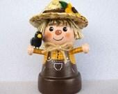 Halloween Scarecrow Flowerpot-Bell Ornament