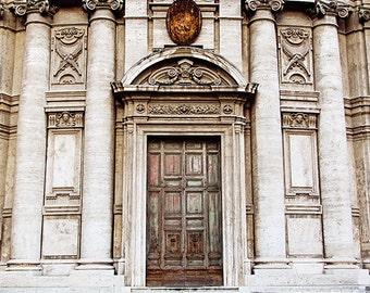 Rome Travel Photography, Italy Home Decor, Roma Fine Art Photograph, Wanderlust Decor, Roman Holiday, Rome Italy, Doors - Roman Doors
