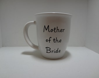 Mother of the Bride, Mother of the Groom Handpainted Wedding Mug Personalized