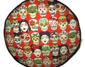 Frida Kahlo Gotas De Amor Pouffe Foot Rest Floor Cushion Pouf