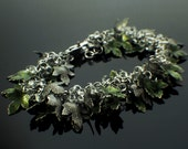 Lush Shaggy Green Leaves Bracelet Kit - Extra Beads and Charms in Stainless Steel