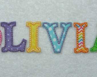 """2 Inch Iron On Alphabet Single Letters Font 2"""" Upper Case Only Iron on Applique Patch Made to Order"""
