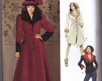 Steampunk coat pattern Simplicity 1732 Adult sizes 6, 8, 10, 12, 14