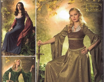 Medieval Renaissance Costume pattern Simplicity 4940 Adult sizes 20, 22, 24, 26