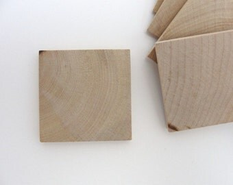 "50 - 2"" Wooden tiles, wooden squares, 2 inch tiles"