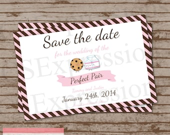 Perfect Pair Save the Date Card