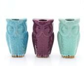 handmade ceramic owl travel mug unique gift choose your color