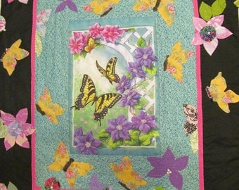 HANDSTITCHED Butterfly Wallhanging Quilt by Marianne of Maui