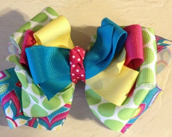 Bright Summery Boutique Hair Bow