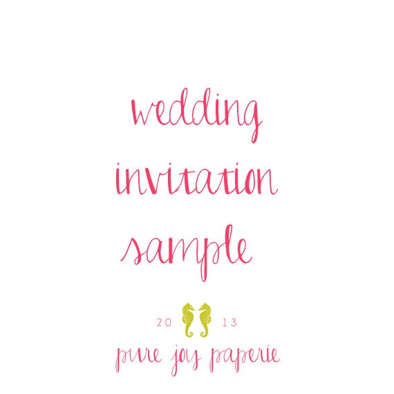 SAMPLE KIT: Choose Your Style Wedding Invitation & RSVP Card