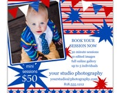 Instant Download - Photoshop PSD layered Templates for Photographers - Marketing Board - Holiday Mini Sessions - July 4th
