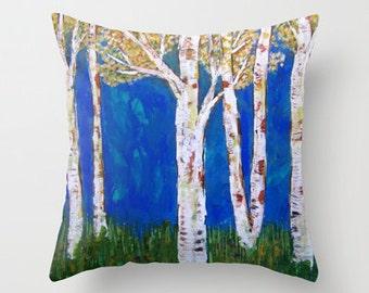 Golden Aspens Pillow Cover 16x16, 18x18 or 20x20