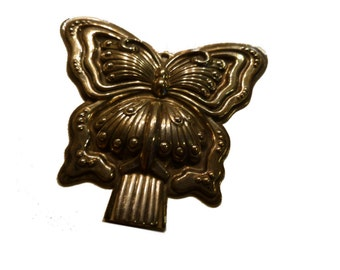 Reed and Barton Sterling Silver Butterfly Whistle. Original Bag and Insert. 1970s.