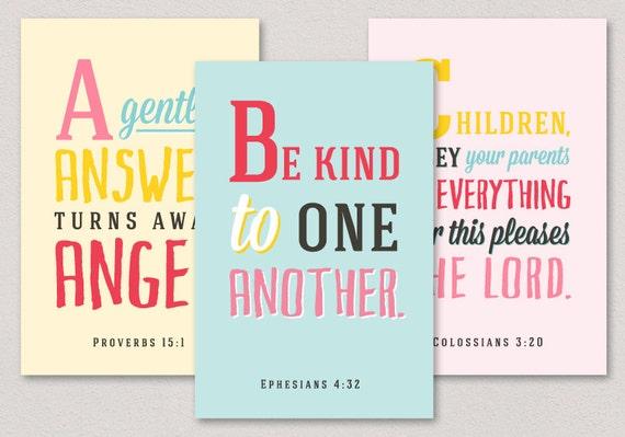 Christmas Bible Verses For Cards Kids Kjv Daughter And: ABC Verses A To Z Bible Verses For Children 26 4x6 By Huetopia