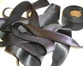 Raven-Hanah Silk-Silk Satin Ribbon-3 yds., 1.5 in. wide