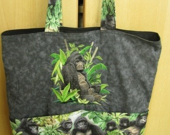 Gorilla Tote Bag Shopping Bag Diaper Bag