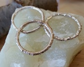 set of 3 silver twig rings stacking branch ring stackable nature inspired twig ring