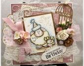 Ewe - OOAK Handmade Greeting Card - Whimsy Stamps