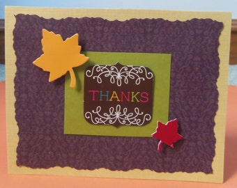 Thanks Fall Leaves Greeting Card