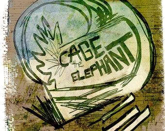 Cage the Elephant Poster - RARE - Limited Edition of 100