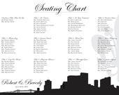 New Orleans Seating Chart Printable PDF Custom Poster Digital Design Print File ONLY Seating Plan
