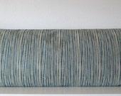 Blue and khaki stripes pillow cover - Magnolia Laurel Bay Stripe Cove Blue