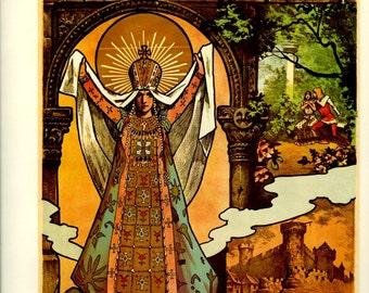 Sale 20% off Vintage French Poster (31-32) Opera Romanesque, Esclarmonde, 1889, Le Mage, Massenet, 1976, Large, 9 x 12